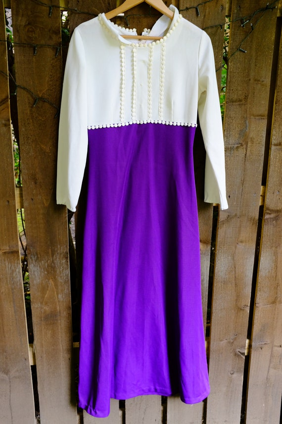 Vintage crimped psych maxi dress