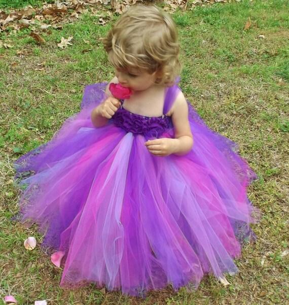 a09142c2151 Purple tutu dress royal purple flower girl dress purple