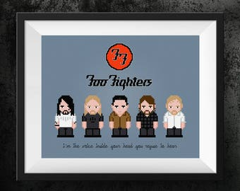 Foo Fighters Cross Stitch Pattern | Pop Culture Cross Stitch | Rock and Roll Xstitch | Dave Grohl | Rock Lyrics Cross Stitch | Song Chart