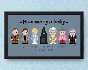 Rosemary's Baby Cross Stitch Pattern | Horror Cross Stitch Charts | Polanski Cross Stitch | Devil Cross Stitch Satan | Occult Cross Stitch