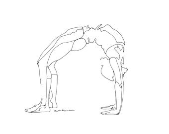 artículos similares a upward facing bow or wheel pose yoga