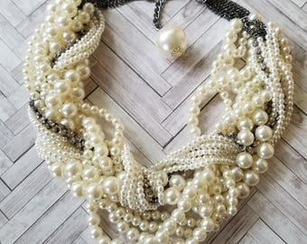 Pearl Necklace/Pearl Choker/Multi Strand Pearls