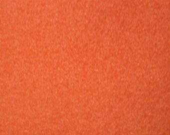 Iron on orange velvet flock sheet