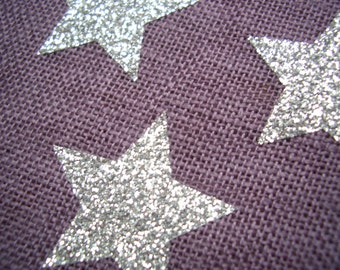 Star glitter iron-on appliques all colours