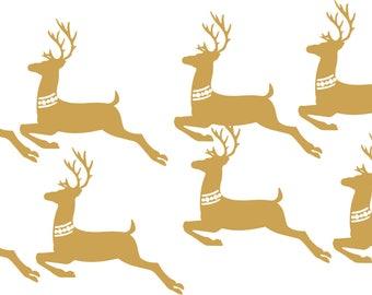 Iron on reindeer flex or metallic finish