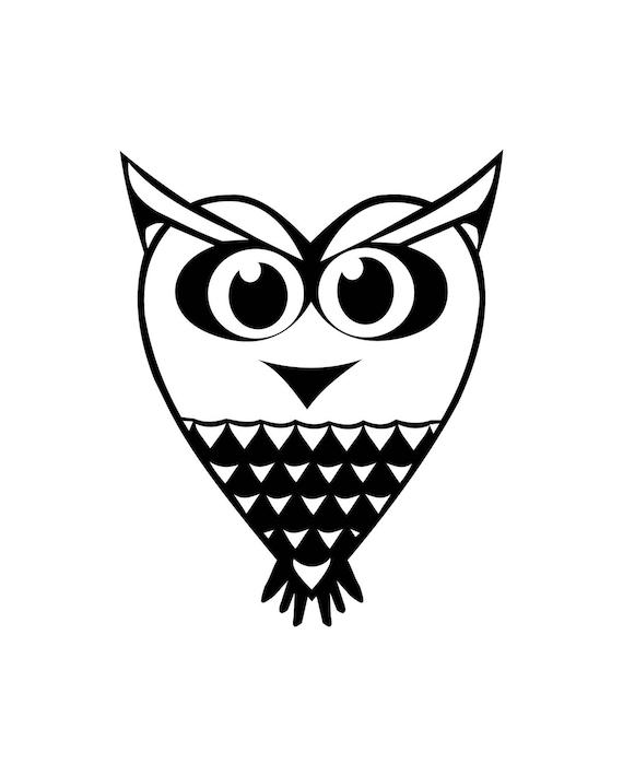 Iron On Fabric Appliqués Neon Owls