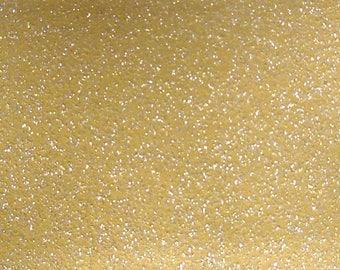 Iron on smooth gold glitter flex sheet