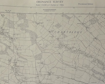 1966 old Ordnance Survey map SP 90 SW Hyde Heath to Chartridge Buckinghamshire cartographer ancestry new home wall art decoration study gift