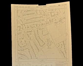 3 vintage Ordnance survey maps Chalfont St.Giles Buckinghamshire England 1964 hall wall art decor new home John Milton study heritage gift