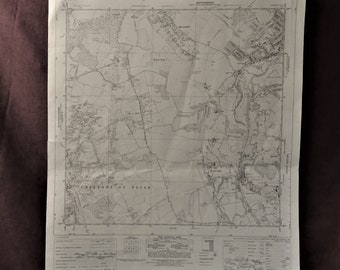 1970 OS map TQ 09 SW Chalfont St. Peter to Mill End Buckinghamshire cartographer ancestry new home wall art decoration study gift