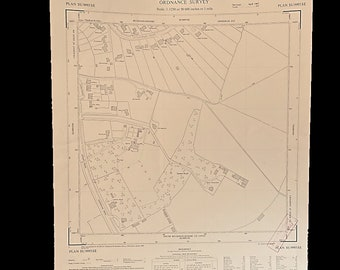 4 old Ordnance survey maps Chalfont St.Giles Buckinghamshire England 1964 library cartographer John Milton Quaker study heritage gift
