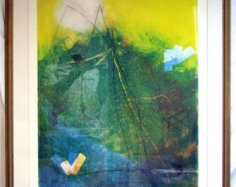 Original Print, Norma Silverton, Abstract Art, Modern Art, Wall Decor, Silkscreen Print, Wall Art, Original Art, Unique Gift, Contemporary