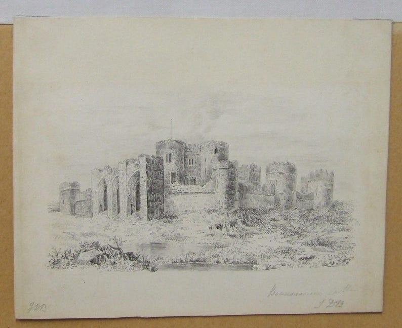 John Daniel Bond Beaumorcie Beaumaris Castle Wales art image 0