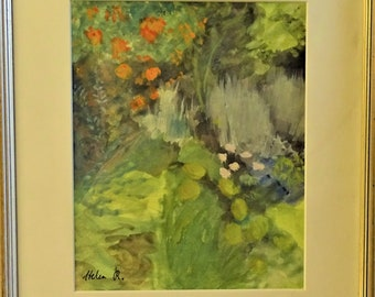 Helen Roeder (1909-1999) Wall decor signed framed original painting art new home flower lover wellbeing special garden unique gift