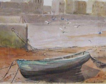 Original watercolour painting Dungarvan Co Waterford Ireland Pamela Dronfield artist Mothers Day Gift Worldwide freight искусство подарок
