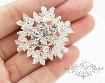 Wedding jewelry Headpiece Bridal Hair pins Bridesmaids Hair pins Rhinestone hair pins Snowflake bobby pins Snowflake hair pins - ZELENA