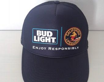ae6b2af6dd15 Bud Light California Lifeguard unisex blue trucker hat snapback one size  fits.