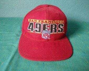 6501fb4f4 Vintage San Francisco 49ers baseball hat pro line