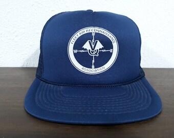 aa2ed425199 Vintage unisex Fleet Air Reconnaissance Association navy blue snapback hat