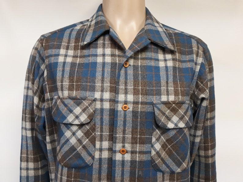 Pendleton 100/% Virgin Wool Plaid Shirt Mens Size X Large