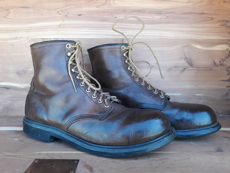 0361dda2e01 Vintage 90's men's Red Wing steel toe work boots electrical hazard  supersole size 13D made in Usa.