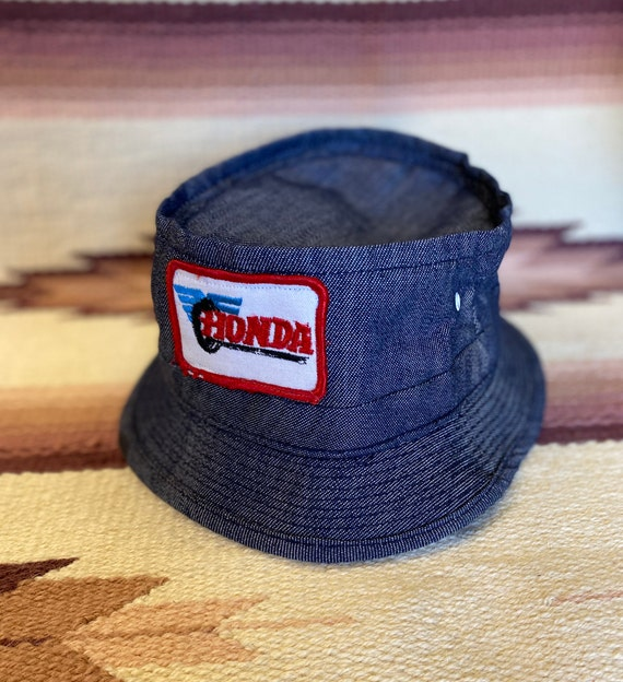 Vintage 80's unisex Honda denim bucket racing hunt