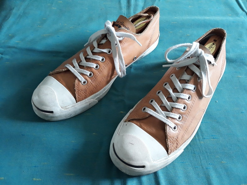 bf32528031ca Converse Jack Purcell unisex sneakers leather shoes brown
