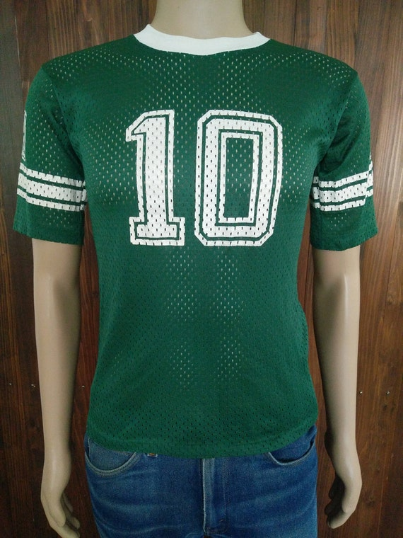 9c4357d3f9b Vintage 80 s boys Spartans football player 10 green