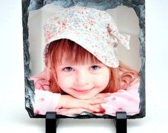 6x6 Custom Stone Slate Photo Print or Plaque [FREE SHIPPING]