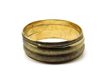 Set of 3 Gold bracelets