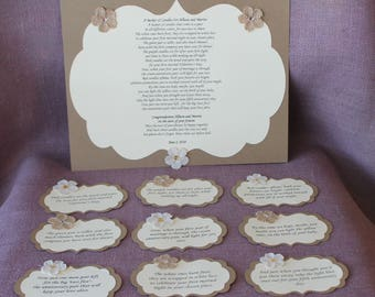 2fc44652a66469 Wedding Shower Candle Poem Rustic Tag Set. Bridal candle basket Poem and  Tags.Sentimental wedding gift. Shower Present. Bride Gift.
