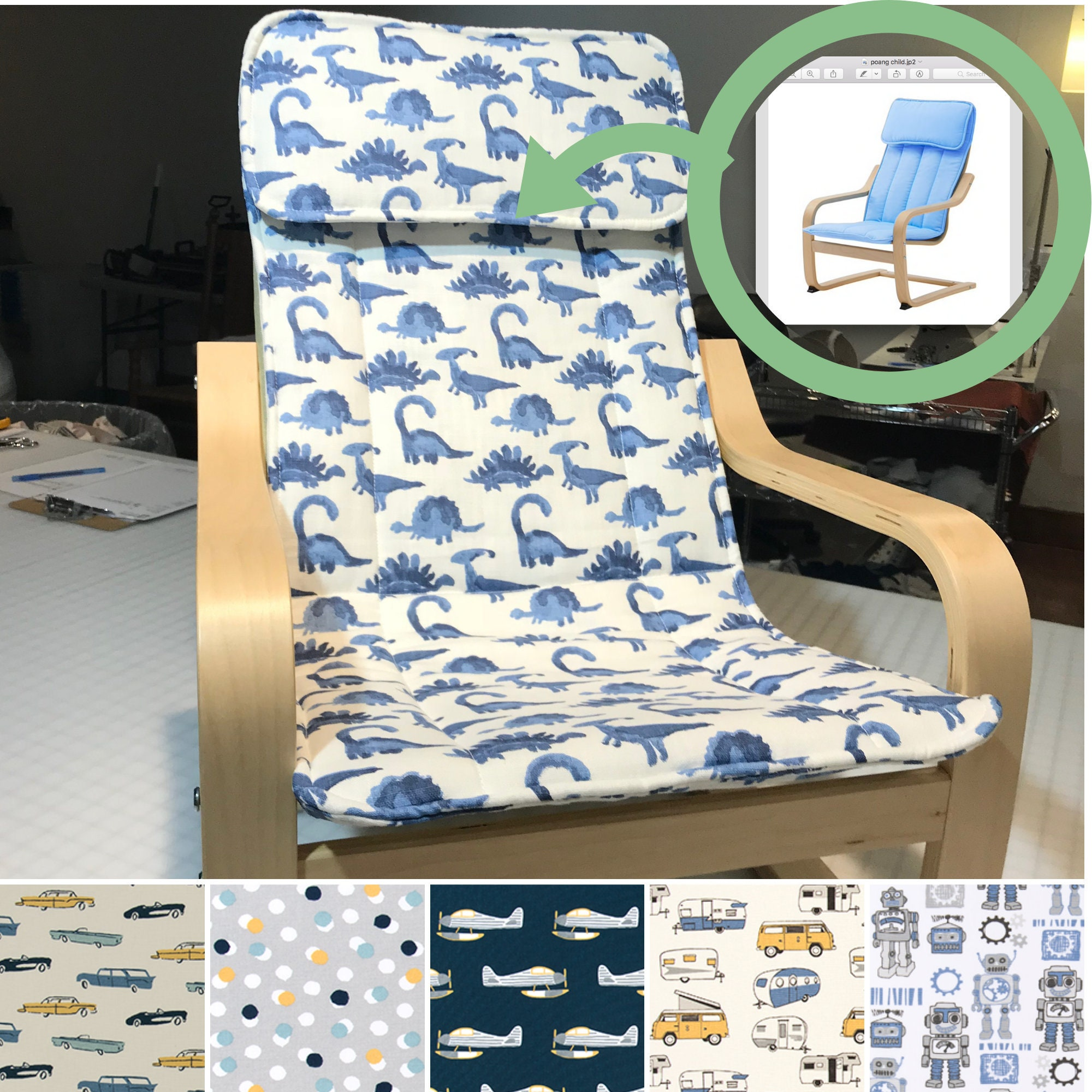 Replacement Pad For Children S Ikea Poang Chair Chill Etsy