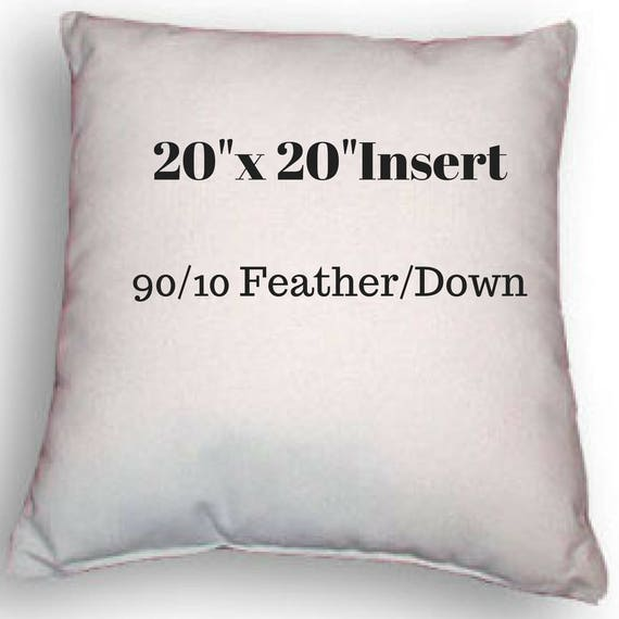 20 X 20 Pillow Insert 90 10 Feather Down Etsy