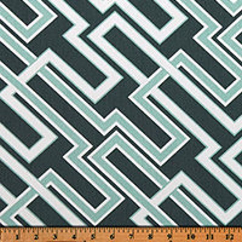 Valance and Cafe Curtains Made to Order in Multiple Sizes Geometric Decor Featuring Premier Prints Jasper Collection