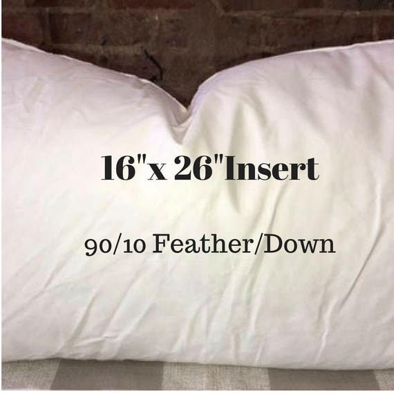 16 X 26 Pillow Insert 90 10 Feather Down Etsy