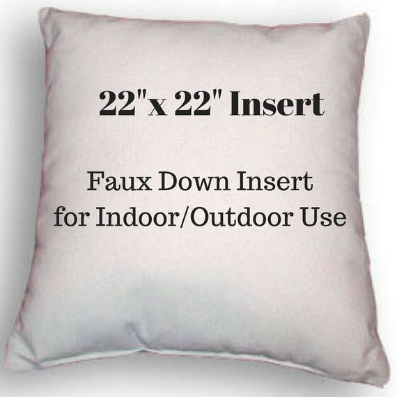 Pillow Form 22 X 22 Pillow Insert Indoor Or Etsy