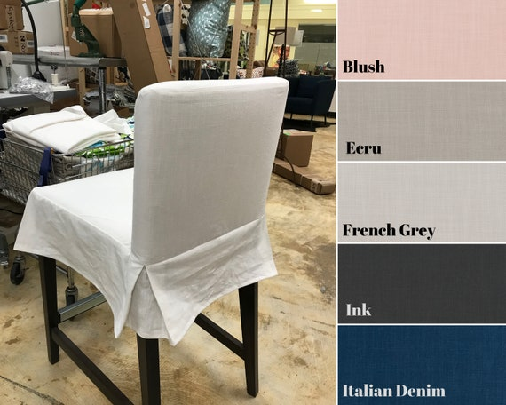 Prime Replacement Slipcover For Ikea Henriksdal Bar Stool Fitted Bar Stool Cover With Skirt Solid Colors Machost Co Dining Chair Design Ideas Machostcouk