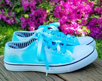 ae55970895 Tie-Dye Canvas Shoes! Super cute and comfy! Women sizes US 6-10 available  through custom order!