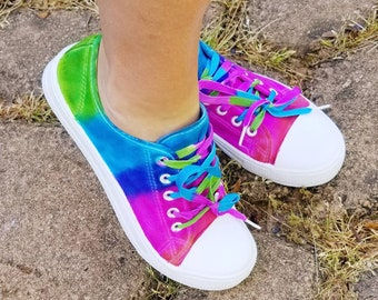 2ae7f4964c7b Tie-Dye Canvas Shoes! Super cute and comfy! Women sizes US 7-10 available  through custom order!