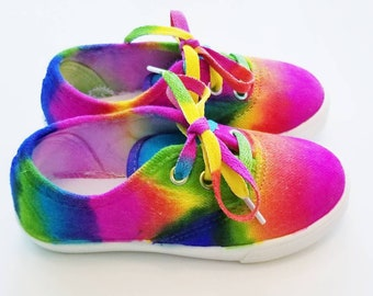 d741f9312c4d Tie-Dye Canvas Shoes in Toddler and Kid s Sizes Handmade to Order!
