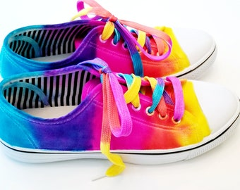 b1f87dc77937 BE Everything Brilliant! Tie-Dye Canvas Shoes! Super cute and comfy! Women  sizes US 7-10 available through custom order!