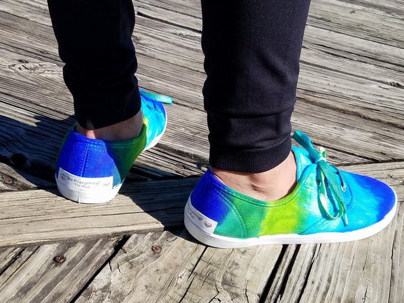 701ec5d7f77c BE Everything FUNky Tie-Dye Canvas Shoes Super cute and