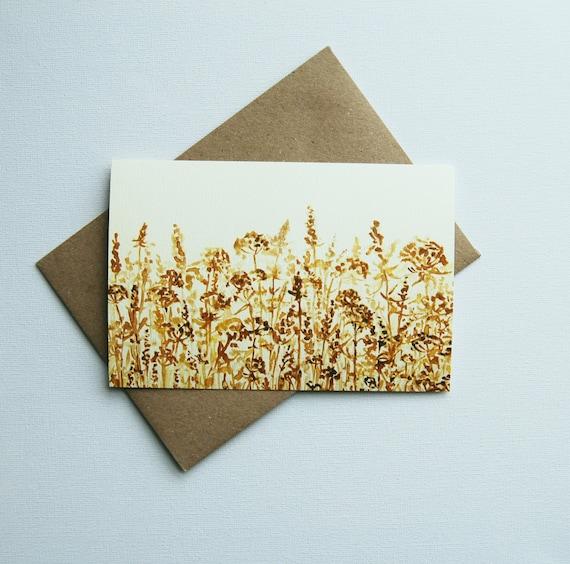 Greeting Card Postcard Birthday Card Drawing Print Etsy
