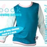 Ebook pdf sewing pattern lillesol basic No.1 Longsleeve / Shirt long + short sleeves / Girls & Boys / Instant Download / photo instruction