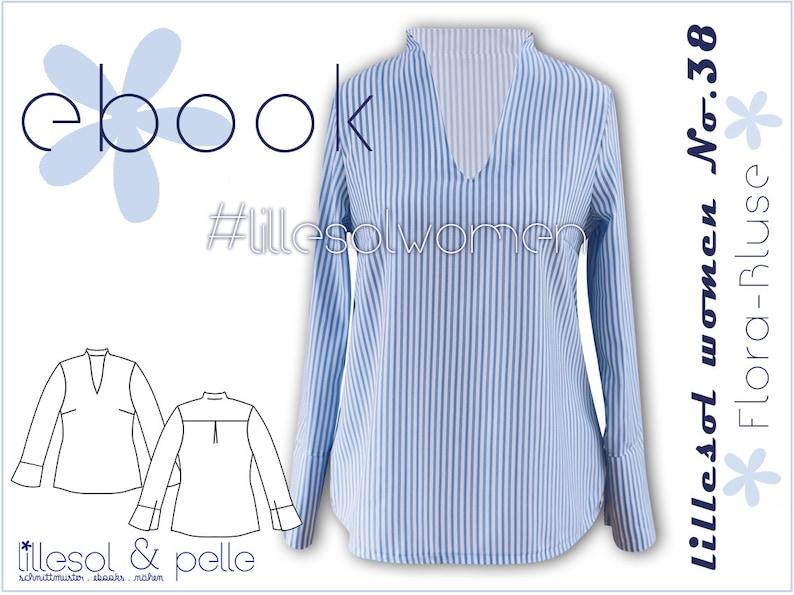 8bd05df4d134b7 Ebook / Schnittmuster lillesol women No.38 Flora-Bluse mit | Etsy