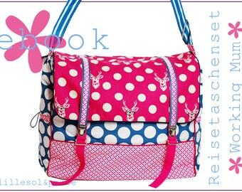 Ebook / Sewing Guide Travel Bag Set Working Mum