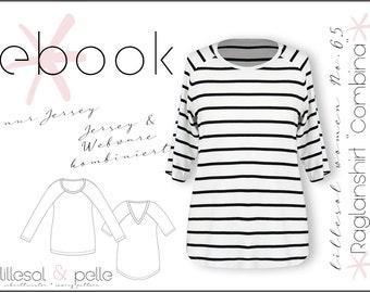 "Ebook / Pattern lillesol women No.65 Raglanshirt ""Combina"" *with video sewing instructions*"