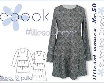 Ebook / Sewing pattern lillesol women No.50 Step dress (Jersey) *with video sewing instructions*