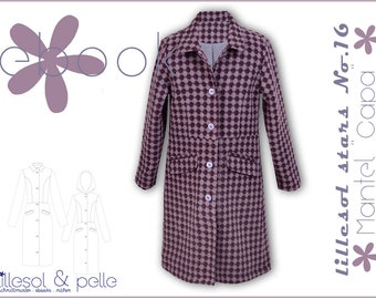 """ebook/Sewing Instructions Coat """"capa"""" for children"""