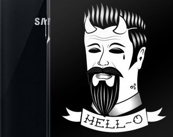 Gothic Samsung Galaxy S10 S20 ultra plus Case   Nu goth Tumblr aesthetic Tattoo Flash Sailor jerry Gothic Gentleman devil Hell   Hell-o
